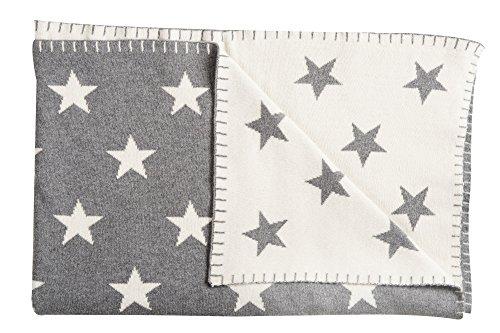 Schardt 15 001 200 Babykuscheldecke Big Star, 95 x 120 cm, grau