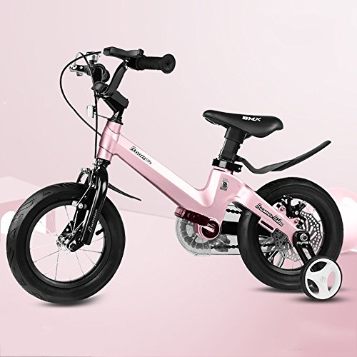 LVZAIXI ROYAL BABY TASTEN FREESTYLE BMX KIDS BIKES IN 11 FARBEN - IN GRÖßE 12,14,16,18 ZOLL MIT SCHWEREN ABNEHMBAREN STABILISATOREN. ( Farbe : Pink , größe : 14Inch )