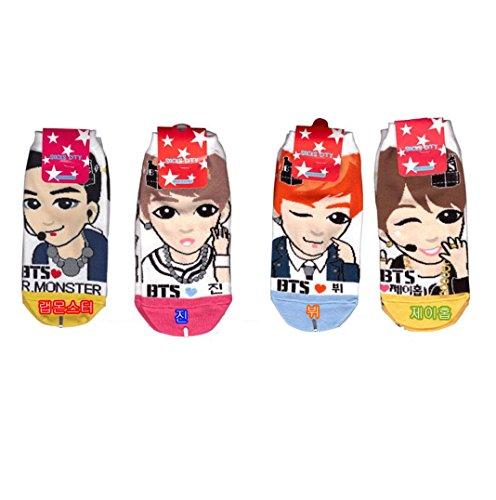 Intype Frauen K-Pop Star Socken (6-8,5-Bunt (Kinder Als Pop-stars)