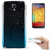 Coque de protection Gouttes de pluie ultra-fine, souple et transparente en TPU de Zooky® pour Samsung Galaxy Note 3 Neo / N7505, Bleue