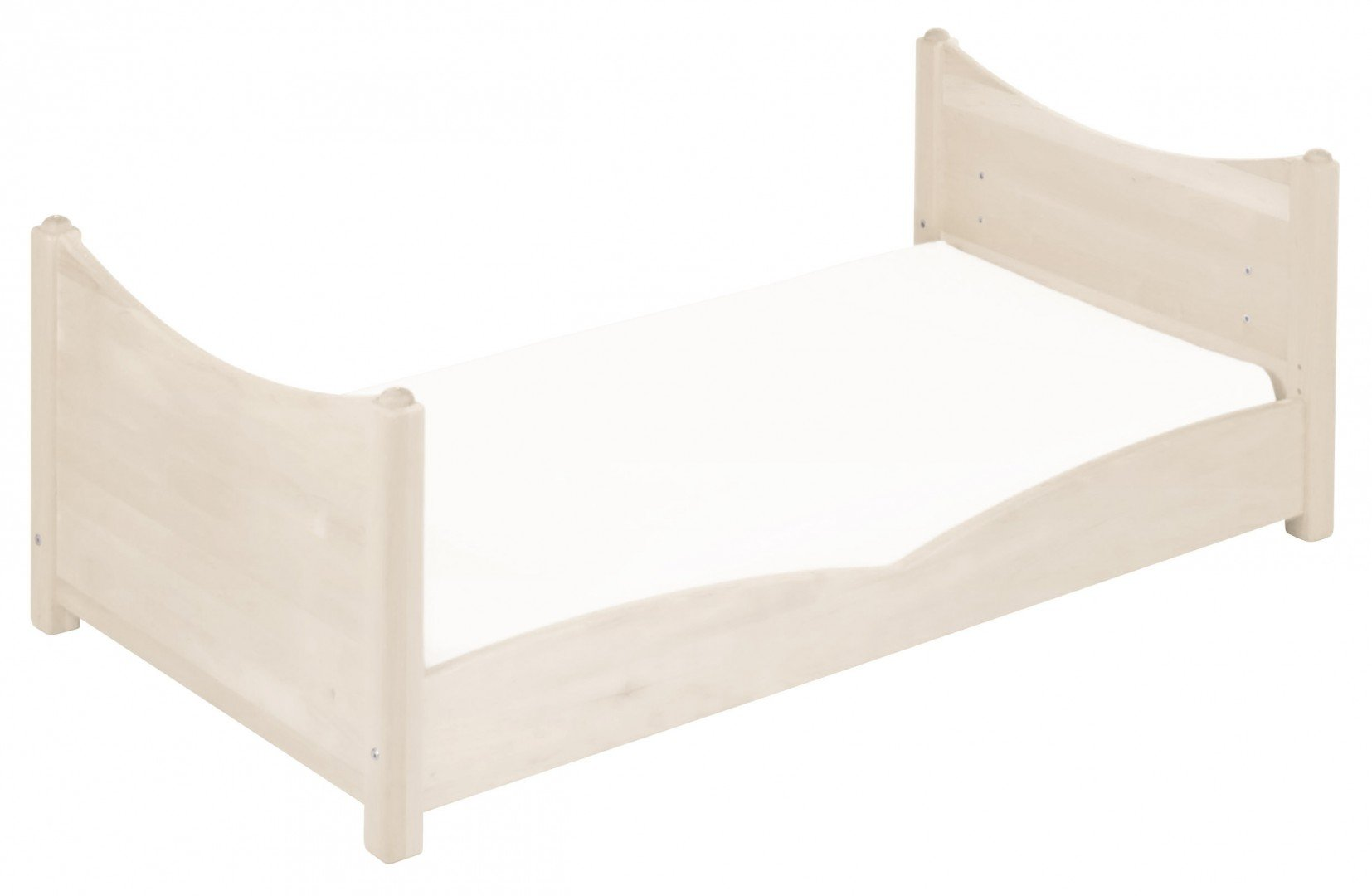 BioKinder 22128 Bed for babies and toddlers Luca from biological wood Bio-Kinder Bed Luca for Babies and Toddlers Adjustable height. 3 removable bars. Various features Sustainable solid biological wood (alder/pine). Biological finish 7