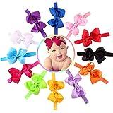 winwintom 12pc bebé niña elástica lazo flor Hairband Fotografía Diademas