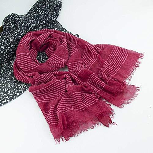 Tie-dye-seide-schal (Hqysjin Damen Schals und Tücher Tie Dye Dirty Cotton Cotton Schal Dicker Schal Warm Acryl Mohair Sari,DREI,100 * 200cm)