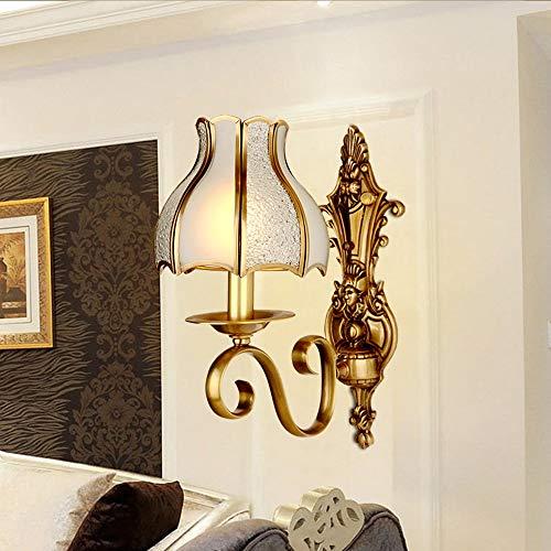 Warm Im Europäischen Stil Wohnzimmer Voll Kupfer Wandlampe Amerikanischer Balkon Im Freien Sconces Mittelmeer Außenkorridor Wasserdichten Wandleuchten Illuminate Ihr Zuhause (Farbe : 1 light)