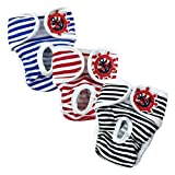 E-Kauf 3er Pack waschbar Schutzhose Hygieneunterhose aus Baumwolle für Hündin