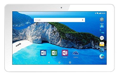 Odys Element 10 plus 3G 25,7 cm (10,1 Zoll IPS Display) Tablet-PC (Intel Atom x3-C3230RK, 1GB RAM, 16GB HDD, Mali-450MP4, 3G, Android 5.1) weiß