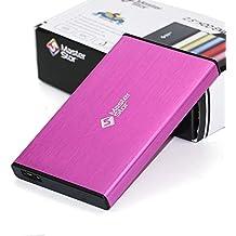(MasterStor 2 años de garantía)-disco duro externo USB 3.0 super-rápido de 2.5 pulgadas SATA Laptop Hard Drive disco duro portátil ROSA (80 GB, 120 GB, 160 GB, 320 GB, 500 GB, 1 TB) (1 TB) (80GB)