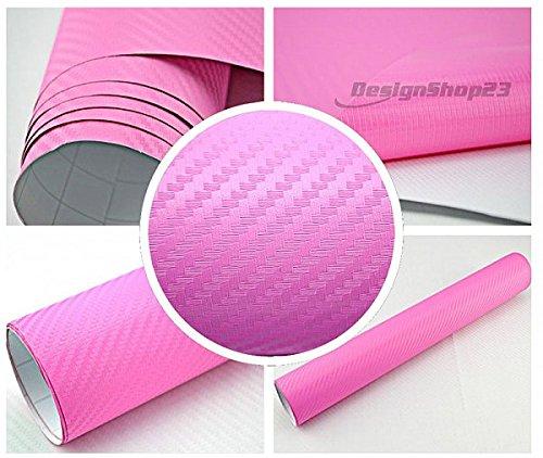 4,5€/m² Auto Folie 3D Carbon Folie - PINK / ROSA - 200 x 152 cm BLASENFREI selbstklebend flexibel Car Wrapping