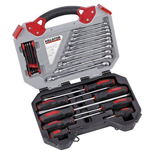 26-tlg. Werkzeugkoffer-Set Toolset Werkzeugkasten Schraubendreher Schraubenschlüssel verschiedene...