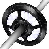 OMorc Lampada per Ombrellone, Ombrello Luci con 36 Luci LED 2 Livello Dimmerabili, Ricaricabile o a Batteria Perfetto per Ombrelli, Tenda di Campeggio Luce, Luce di Emergenza per Notte, Nero