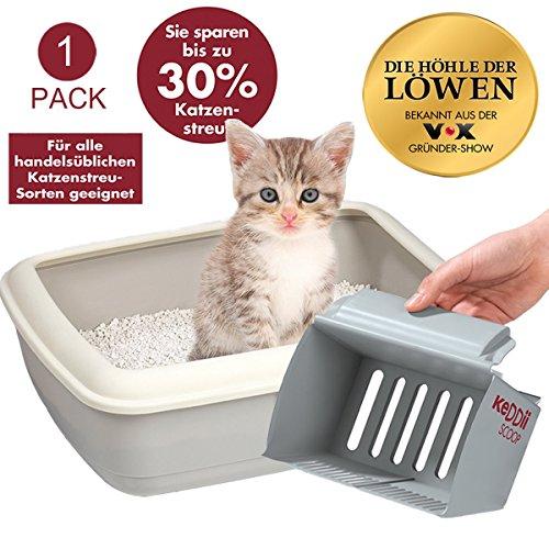 KeDDii-Scoop-XL-Katzenstreuschaufel-Reinigung-der-Katzentoilette-Siebgre-Manuell-Einstellbar-Multifunktionale-Streuschaufel-Fr-Katzenklo-Bis-Zu-10x-Mehr-Volumen-Als-Herkmmliche-Kotschaufel