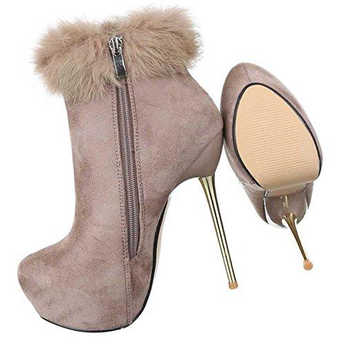 Botas Bege Mulheres Planalto Sapatos Das De Botas Salto Alto De Tornozelo zxqqTvR