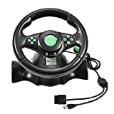 Zerone Racing Wheel Controller Bionic Design Gaming Vibration Racing Wheel & Pedale für Xbox 360 / PS2 / PS3 / PC