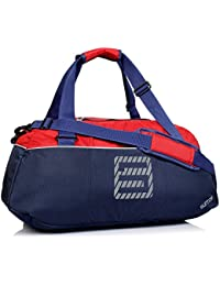 Suntop Sportive Yoga/Sports/Gym Bag With Shoe Compartment And Yoga Mat Holder (Navy Blue & Red)