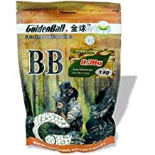 Bola PVC para armas airsoft Golden Ball Biodegradable Precision 6 mm 0.30 gr en Bolsa con 1 Kg de bolas 35658