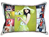 Personalized Rectangle Shaped Photo Pillow with Pillow Cover - 11 x 16 inch - Single Side Photo Printing - Customize with Your Pictures & Messages