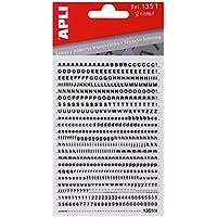 APLI 1351 - Letras, números y signos transferibles, helvetica medida 2,5 mm