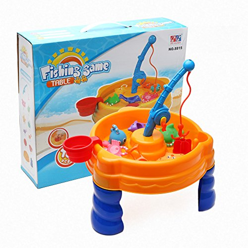 Wishtime Kids Sand and Water Play Table Set Beach Toy Children's Indoor Outdoor Garden Beach Toy Accessories