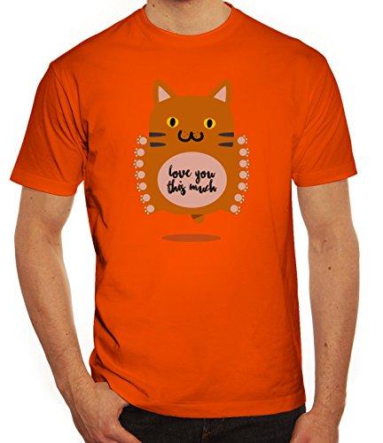 Geschenkidee Herren T-Shirt mit Love You This Much Motiv von ShirtStreet Orange
