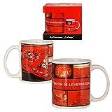 Bayer Leverkusen Kaffeetasse 'Collage', 100% Steingut Fassungsvermögen ca. 0,3 Liter