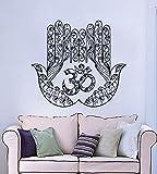 Mano Tatuaje de pared Yoga Arte Fátima Hamsa indio Ganesh Buda Adhesivos de Lotus Pegatina Vinilo Decoración interior Dormitorio Estudio del diseño del arte MN952