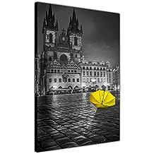 Cuadro en lienzo, marco de 18 mm de grosor, diseño de Praga, color