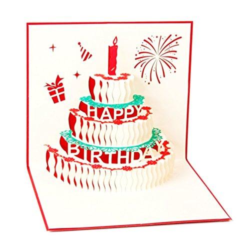 NuoYo Geburtstagskarte 3D Pop up, handgefertigt, Grußkarte, Glückwunsch Karte, Grußkarten, Glückwunschkarten, Geschenkkarte, Karte zum Geburtstag
