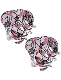 Baoblaze 2X Frauen Blume Haargreifer Griff Kiefer Clips Pin Haarklemmen Schließe Make-up-Tools