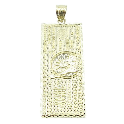 mens-10k-solid-yellow-gold-one-million-dollar-bill-pendant-length-185-inch