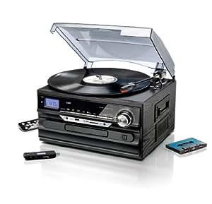 Weltbild Chaîne hi-fi avec encodage numérique, radio, tourne-disque, lecteur cassettes, CD, SD/MMC, USB