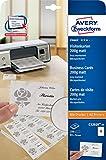 Avery Zweckform C32020-25 Classic Visitenkarten 25 Blatt
