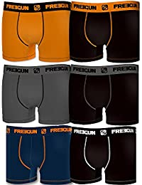 Lot de 6 Boxers Freegun Homme Coton Uni