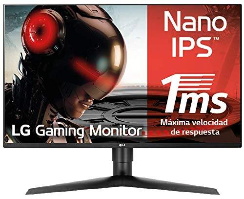LG 27GL850-B - Monitor Gaming QHD de 68.6 cm/27', con Panel NanoIPS (2560 x 1440 píxeles, 16:9, 1 ms GtG, 144Hz, G-Sync compatible, 350 cd/m², 1000:1, DCI-P3 98%, DP x1, HDMI x2, USB x3) Color Negro