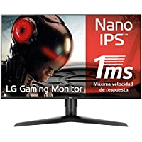 "LG 27GL850-B - Monitor Gaming QHD de 68.6 cm/27"", con Panel NanoIPS (2560 x 1440 píxeles, 16:9, 1 ms GtG, 144Hz, G-Sync compatible, 350 cd/m², 1000:1, DCI-P3 >98%, DP x1, HDMI x2, USB x3) Color Negro"