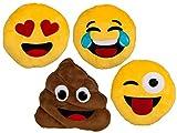 Bada Bing 4er Set Kissen Emoji klein süss Emotionen Smiley 4 fach sortiert witzig