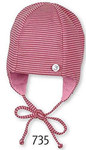 STERNTALER Erstlingsmütze zum Binden Baby-Kopfbedeckung, Größe 41, rosa