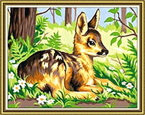GMMH Diamond Painting Set Image 14 x 18 Diamant Peinture Broderie à la Main Bricolage mosaïque Printemps Cerf