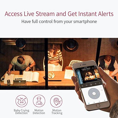 YI Telecamera di Sorveglianza 1080p IP Camera Videocamera WiFi 360° con Sensore Movimento Visione Notturna per iOS/Android (Nera) - 6