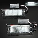 2 x LED-Kennzeichenbeleuchtung von KaTur, Audew 18, für Opel, Corsa C und D, Astra H und J