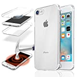 Coque Compatible avec iPhone 7 Plus, iPhone 8 Plus (5,5'), Housse Etui Silicone Protection Intégralee Double Face Avant + Arriere 360° Anti Choc - Transparent