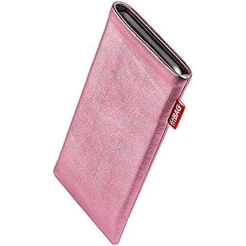 fitBAG Groove Rosa - Custodia per cellulare per BlackBerry Curve 8310, in pelle nappa lucida con imbottitura in microfibra