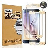 Owbb [2 Pièces] Film Protecteur D'écran en Verre Trempé pour Samsung Galaxy S6...