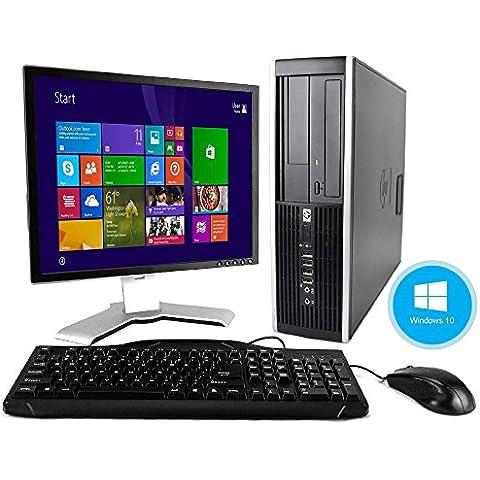 HP Elite 8000Windows 10ordenador de sobremesa C2D 3.0PC 4GB 160GB DVDRW WiFi Monitor LCD de 19pulgadas–Teclado–ratón–Cable de