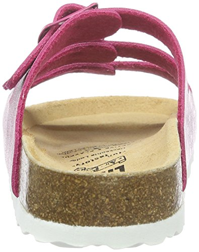 Lico Bioline Star, Chaussons Fille Rose (Pink/Silber)