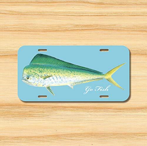 Mahi-Mahi License Plate Vehicle Auto Tag Fishing Ocean Deep Sea Scuba  Novelty Accessories License Plate Art