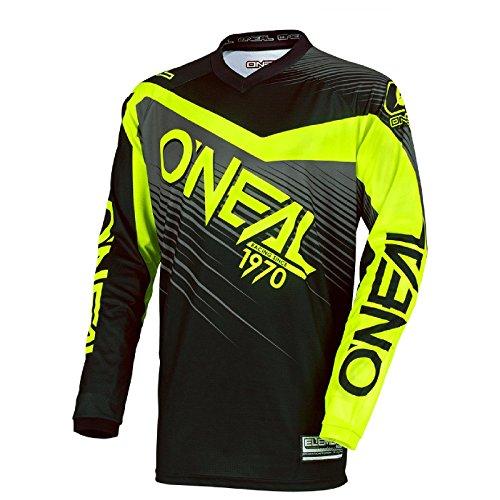 O\'Neal Element Racewear MX Motocross Jersey Shirt Enduro Offroad Motorrad Quad Cross Erwachsene, 0008, Farbe Hi-Viz Gelb, Größe 2XL