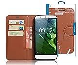 TopAce® Acer Liquid Zest Plus Hülle, Handy PU Leder