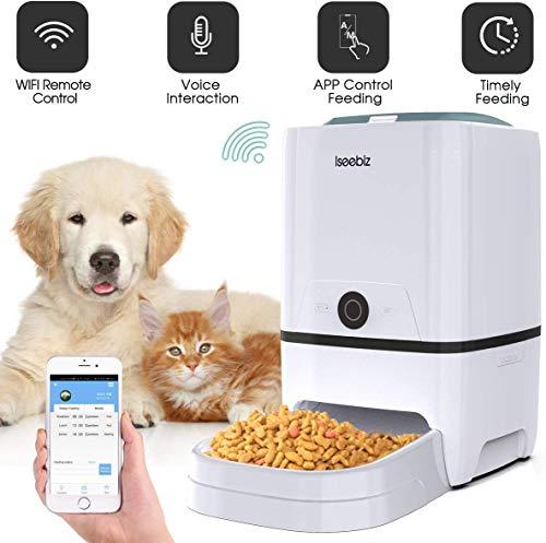 Iseebiz Comedero Automático Gatos/Perros Dispensador