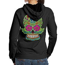 Sugar Skull Dia De Los Muertos Women's Pullover Hoodie, Hooded Sweatshirt