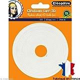 Cléopâtre - SCRAP-RM2X5 - Cléofoam Tape 3D - Rouleau Adhésif Double Face Colle Transparent